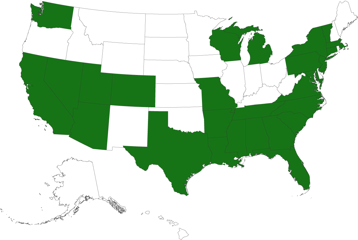States we're licensed in.